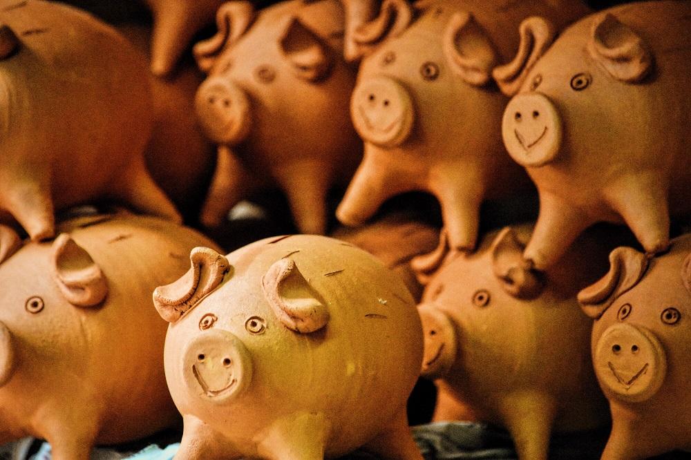 cofrinho em forma de porco