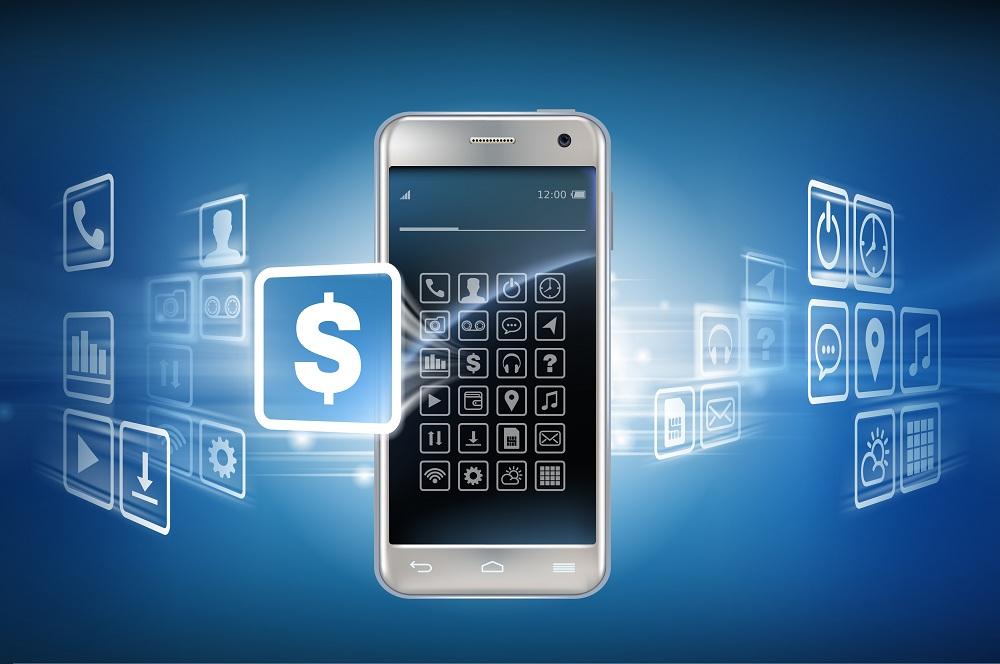 imagem de celular e diversos ícones digitais a volta