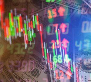 imagem demonstrando sobe e desce na bolsa de valores, para simbolizar as ações promissoras