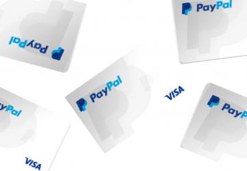 cartão de crédito pré-pago Paypal Visa Internacional